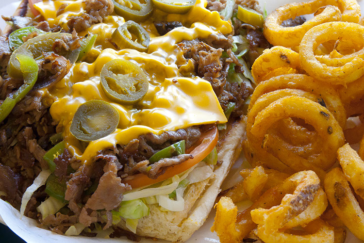 The perfect Personal Cheese Steak, with crunchtastic curly fries.